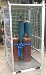 Picture of Gas Bottle Storage Cage (Flat Packed)