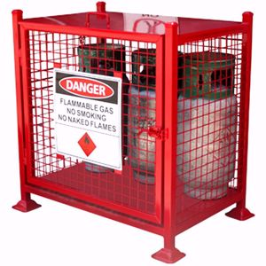 Picture of Gas Cage to hold 6 x forklift Cylinders